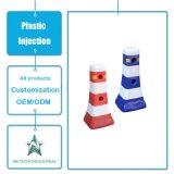 Lato personalizzato dell'iniezione dell'acqua del cantiere delle attrezzature di traffico dello stampaggio ad iniezione di plastica del bordo