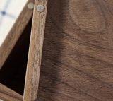 Rectángulo de madera del tejido de la nuez de lujo de encargo de la insignia