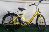 Vélo électrique de ville de bâti en acier 26 pouces avec le blocage
