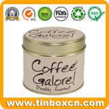 Олово кофеего металла коробки упаковки еды круглое с воздухонепроницаемой крышкой