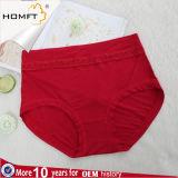 Ropa interior más de la talla para las bragas suaves del algodón de la ropa interior del cordón de la alta calidad de las mujeres