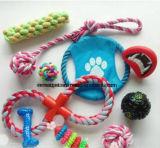 Фабрик-Направьте игрушку собаки право шарика Хлопк-Веревочки плюша продукта любимчика Multi-Цветов