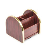 Removable Golden Edge Multi Functional Wooden Storage Organizer
