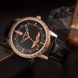 El reloj de lujo del asunto H387 ahueca hacia fuera el reloj del cuarzo de los hombres del puntero para la venta