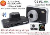 """video de la cámara del coche de 2.7 """" Sony con el GPS que sigue la antena de receptor, seguimiento posterior del juego de la correspondencia de Google; rectángulo negro del coche de 5.0mega FHD1080p, leva de control que estaciona"""