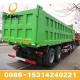 아프리카를 위한 최고 조건 그리고 저가를 가진 좋은 녹색 375HP HOWO 덤프 트럭 팁 주는 사람 12 타이어