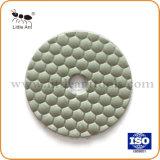 좋은 품질 화강암과 대리석 돌을%s 건조한 사용된 3 인치 수지 다이아몬드 닦는 패드