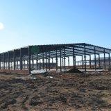 목제 위원회를 가진 Prefabricated 가벼운 강철 구조물 창고