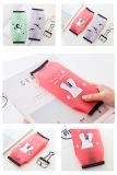 1 cadeau d'élèves d'approvisionnements d'école d'Escolar de papeterie de Kawaii de bourse de poche de sac de crayon de trousse d'écolier d'animaux de dessin animé de silicones de PCS