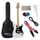 Guitarra eléctrica barata al por mayor colorida de las existencias de los productos de la fábrica de Aiersi