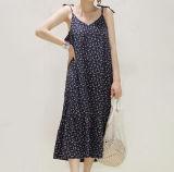 Neues elegantes Dame-Muster-Verdrahtungs-Kleid
