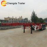 製造業者の容器輸送3の車軸40FT容器の骨組みトレーラー