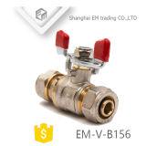 Шаровой клапан в алюминиевую ручку /бабочка рукоятку (EM-V-B156)