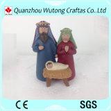 Navidad Belenes Artesanía de resina resina Juego de decoración de figuras del Pesebre de dibujos animados