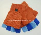 Los niños Lindo el color de contraste la mitad de guantes tejidos de los dedos (HY17103010)