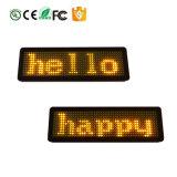 Il doppio dal Nag rosso del Buy LED dei distintivi del LED, distintivi elettronici del LED vende al dettaglio la promozione del negozio dei distintivi di nome del LED che fa pubblicità alla modifica di nome