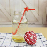 Leerer Honig-Marmeladen-Gelee-Speicher-Glasmaurer-Glas mit Kappe