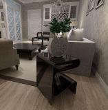 거실을%s 현대 작풍 검정 색깔 R 모양 탁자 가구