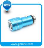 Material de aleación de aluminio de doble puerto USB inalámbrico de coche cargador de móvil