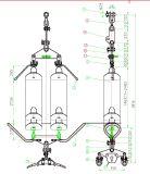 230kv de la suspensión de doble cadena aislante tipo I sobre la cabeza Conexiones de la junta de la línea de transmisión
