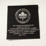 Custom de poliéster de alta densidad de la plata metálica de las etiquetas de ropa de etiqueta tejida