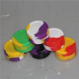 Multi-Color Non-Stick personalizada 22ml de concentrado de tarro de cera silicona DAB Contenedor de almacenamiento de silicona