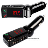 Manos Libres Bluetooth Car Kit transmisor de FM con coche de línea de carga en soporte de cargador de coche USB Aux TF tarjeta U disco los puertos de carga