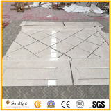 床を張る床のための普及した磨かれたクリーム色のUltramanのベージュ大理石のタイル