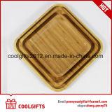 Bois de Bambou alimentaire écologique Square dessert gâteau plaques plats