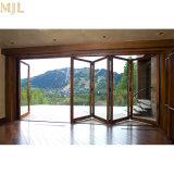 Portelli esterni di piegatura Bifold di alluminio di vetro Tempered per costruzione commerciale