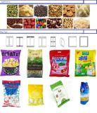 フルオートの軽食、ナット、粒状の固体食糧袋袋の包装の形成満ちるシーリングパッキング機械の重量を量る