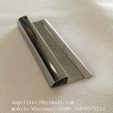 Guarnecido de la baldosa de acero inoxidable Perfil de Transición de metal de forma de T en forma de U forma de L.