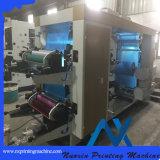 두 배는 기계장치를 인쇄하는 6개의 색깔 직물 Flexo를 풀거나 다시 감는다
