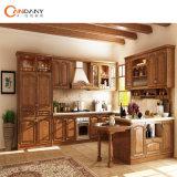 Armadio da cucina dell'acero della noce della ciliegia della quercia della mobilia di legno solido