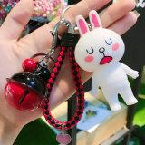 Fashion Bunny Cony mignon porte-clés de lapin tricot de jeune fille de la poignée en cuir Don trousseau