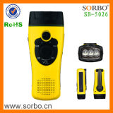 4 en 1 lampe torche dynamo Radio FM avec alarme