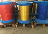 Arame de aço revestido com galvanização de nylon para encadernar como livro fio espiral Metálica de Aço