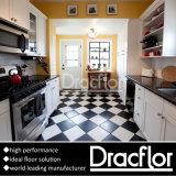 Decoração de azulejos do piso a preto e branco (P-7223)