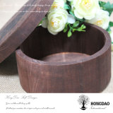 Hongdao는 나무로 되는 둥근 음식 과자 파이 케이크 초콜렛 Box_E를 주문을 받아서 만들었다