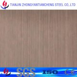 strato spazzolato 347H dell'acciaio inossidabile con il PVC per la decorazione in acciaio inossidabile