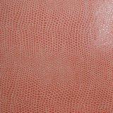 Het in reliëf gemaakte Dierlijke Skin-Like Kunstmatige Leer van Pu voor de Dekking van het Notitieboekje van de Schoen