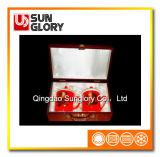 Caneca vermelha de China de osso com a caixa de presente de GB003