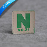 New Fashion Green Custom Embossed Leather Patch for Garment