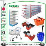 Shelving корзины вагонетки оборудований супермаркета