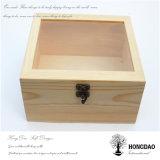 Boîte en bois sur mesure Hongdao avec couvercle acrylique _D
