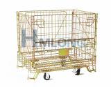 Faltendes Rolling Wire Mesh Container Used für Storage