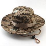 Casquillo militar del compartimiento del ejército del borde del sombrero ancho de encargo de Camo con la cadena