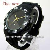 Hot Fashion Silicone Watch, la meilleure qualité Black Watch 15050