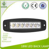 Voltaje multi impermeable DC8-32V 18W de la luz del trabajo del LED