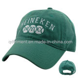 Lavado de sarga de algodón bordado Deporte golf gorra de béisbol (TMB0831)